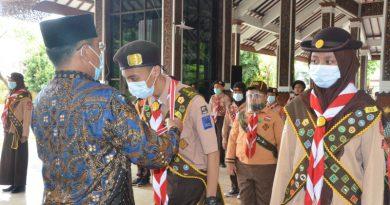 Penganugrahan tanda Pramuka Garuda Kwartir Cabang Sidoarjo tahun 2020